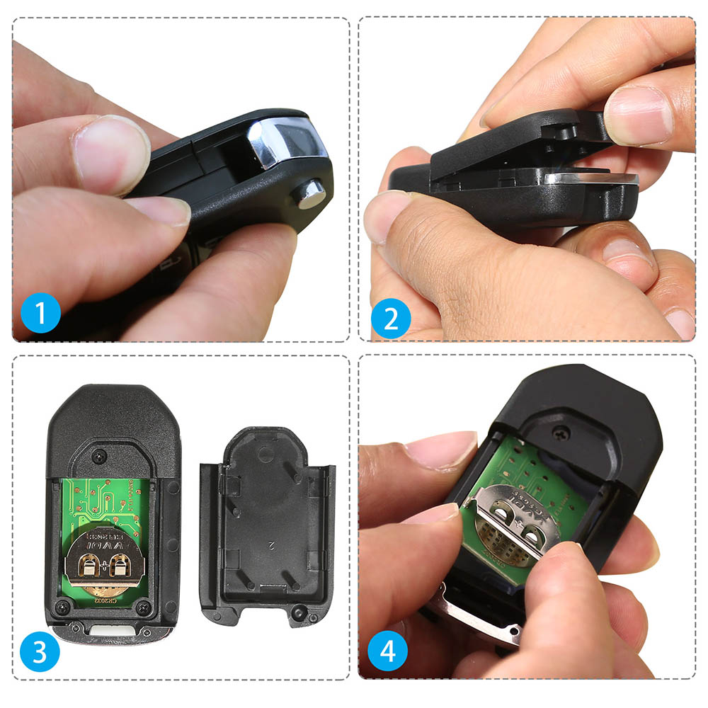 how to open the xhorse wirless remote key