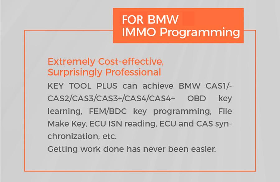 Xhorse key tool plus bmw IMMO Programming